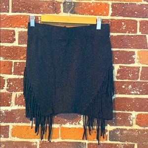 Mustard Seed - Bohemian knit mini skirt